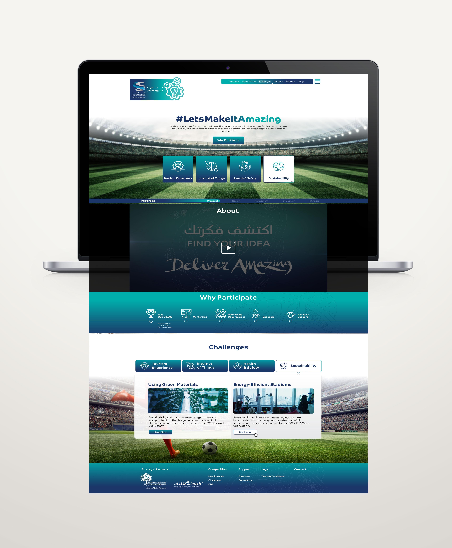 challenge 22 website redesign landing page
