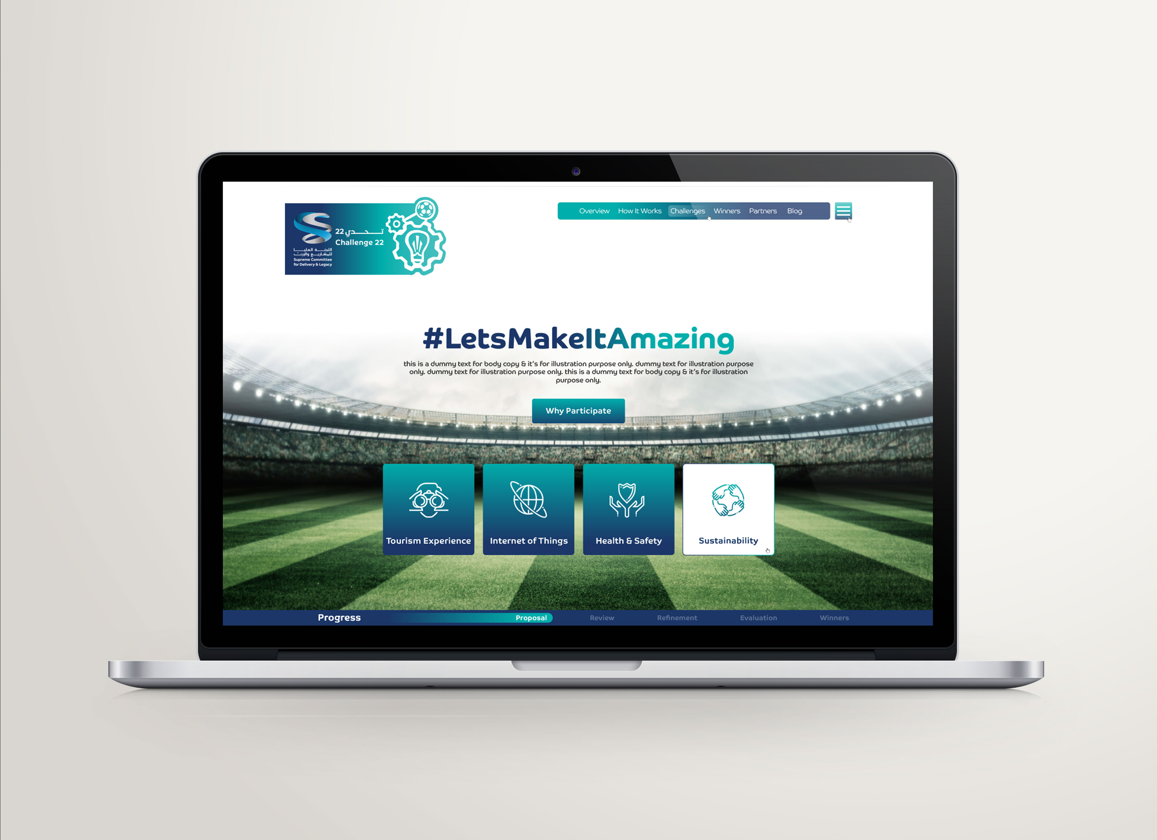 challenge 22 qatar landing page design